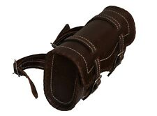 Gallanto Retro Brown Cowhide Motorcycle Leather Sissy Tool Bags (Biker Vintage