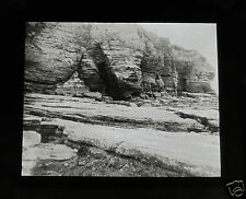 Glass Magic lantern slide PERMIAN SANDSTONE TORBAY DEVON C1910 ENGLAND GEOLOGY