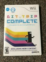 Nintendo Wii Bit Trip Complete - Complete w/ Manual & Soundtrack- Tested Working