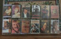 Lot of 12  Country Music Cassette Tapes -  Joe Diffie, Kenny Chesney and more