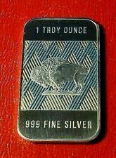 American Buffalo & Indian Bar by RMC 1 Troy oz..999 Fine Silver