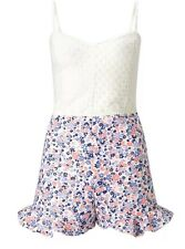 ARIANA GRANDE FOR LIPSY SIZE 12 WHITE FLORAL PLAYSUIT BNWT