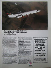 6/1989 PUB GULFSTREAM II III PRE OWNED EXECUTIVE AIRCRAFT PARIS AIRSHOW AD