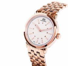 NWT 88 RUE DU RHONE SWISS Ladies Rose Gold Diamond Watch 87WA120013 $780 Retail