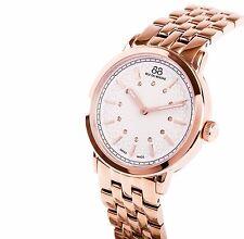 NWT 88 RUE DU RHONE SWISS Ladies Rose Gold Diamond Watch 87WA120013 $780 Retail