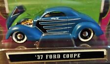 MAISTO 37 1937 FORD COUPE OUTLAWS RAT ROD CUSTOM STYL FLAT BLUE SATIN FINISH CAR