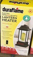Duraflame Infrared Quartz Lantern Heater w/ LED Flameless Candle 5200 BTU Remote