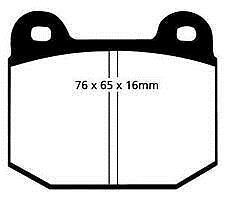 PAD282 Brake Pads for OPEL MANTA B 1.9 1975-1981 Front
