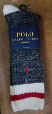 POLO RALPH LAUREN Marled Wool-Blend Boot Socks NWT