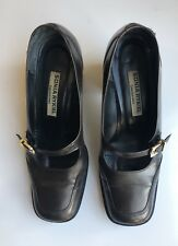 Vintage Brown Leather Chaussures Sonia Rykiel Mary Jane Shoes Women Size 5.5