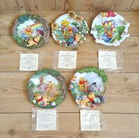 Winnie The Pooh 3D Collectors Plates The Bradford Exchange Certificates
