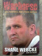 SIGNED - Shane WEBCKE WARHORSE autobiography book