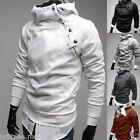 AU Stylish Assassins Mens Jacket Cool Slim Fur High Collar Cosplay Creed Hoodie