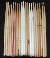 Drum Sticks Factory Seconds 10 Pairs Assorted American Hickory Wood 20 Sticks