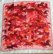 """Carre Hermès Authentique"""" Ex Libris En Camouflage"""" 90 Cm En Soie / Silk Scarf"""