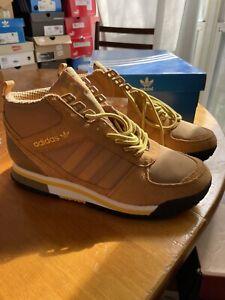 DEADSTOCK Adidas ZX TR Mid G95585 wheat/sttarnish brown/yellow US Men's 10