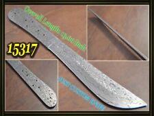 "13""Custom made Rare Damascus hunting blank blade knife making suppliers 15317"