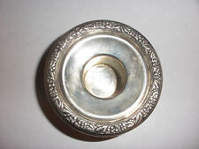 ANTIQUE STERLING SILVER REPOUSSE BOBECHE FOR CANDELABRA OR CANDLESTICKS
