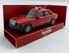 "Mercedes-Benz 190 E Feuerwehr ""Florian AG-200"" rot Herpa 1:87 H0 in OVP [K1]"