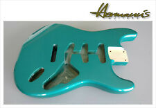Strat Style Erle/ Alder Replacement Body, SSS Route, Ocean Turquoise Metallic