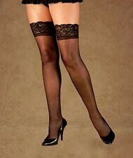 Plus Size Lingerie XL-2X-3X Sexy Clothes intimate Cross dresser thigh Stockings