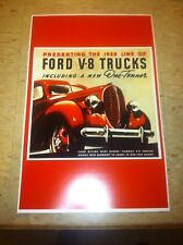 Vintage 1938 Ford Truck  Advertisement Poster Man Cave Gift Art Decor