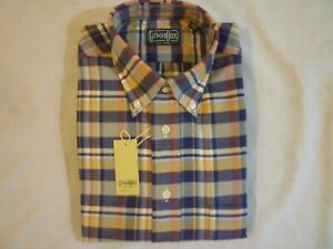 GITMAN BROS Plaid Flannel Shirt Men's M New With Tags Made In USA FREE SHIP