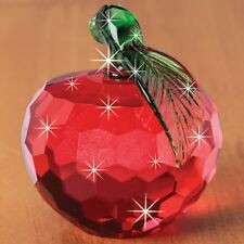 #CRYSTAL RED APPLE FIGURINE Fruit New In Box Deluxe! BIG SALE!