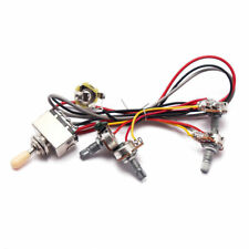1Set Wiring Harness 3 Way Toggle Switch 2V2T Pots & Jack For Les Paul LP Guitar