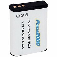 Power2000 EN-EL23 Rechargeable Battery for Nikon P600, P610, S810c, P900, B700