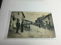 Vintage Postcard RPPC Foreign 1916 Germiny Grande Rue  People on Street P3