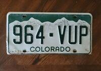Colorado License Plate #964-VUP Man cave F3