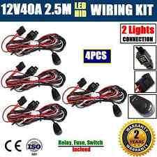 4x 12V40A WIRING LOOM HARNESS KIT HID LED DRIVING WORK LIGHT BAR AUTO FUSE RELAY
