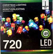 Lichterkette 720 LED MULTICOLOR Weihnachts Beleuchtung Innen Außen Lichtschlauch