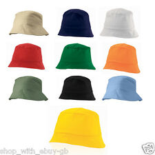 100% Cotton Adults Bucket Hat - Summer Fishing Fisher Beach Festival Sun Cap
