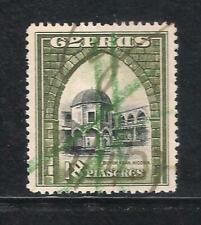 CYPRUS KGV 1934 SG142 18pi USED AS REVENUE FISCAL DUTY STAMP VERY FINE CONDITION