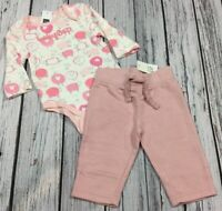Baby Gap Girls 6-12 Months Outfit. Pink Lamb Shirt & Pink Pants. Nwt