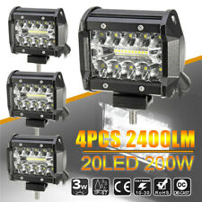 4x 4'' LED Work Light Bar Flush Mount Combo Fog/Driving Lamp Off-road Car Boat