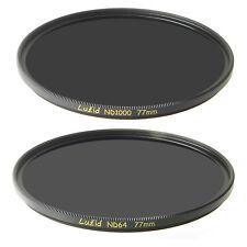 LUŽID 77mm ND Set ND64 & ND1000 MC Filter  Brass ND 1.8 Multi-Coated 77 Luzid