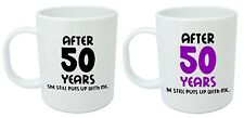 After 50 Years Him & Her Mugs, 50th Wedding Anniversary Gifts for husband & wife