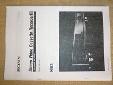 notice magnetoscope sony EV-S1000B hi8