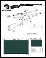 1992 Marlin 783 Bolt Acton,Rifle Schematic Exploded View Parts List Ad