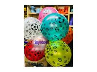 "10 PCS Balloons Football Print Metallic 30cm-12"" baloon assorted colours wholesa"