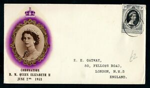 Ascension Island - 1953 QE2 Coronation Illustrated First Day Cover