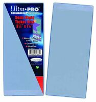 """Ultra Pro Semi Rigid Ticket Holders 50 Count Pack Clear 3-1/2"""" X 7-1/1"""""""