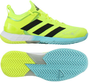 adidas Adizero Ubersonic 4 Men's Tennis Shoes Yellow Racquet All Court FX1365
