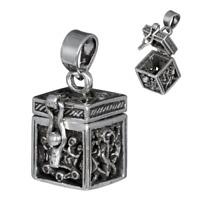 Medaillon Anhänger Silber Gothic Schmuck - NEU