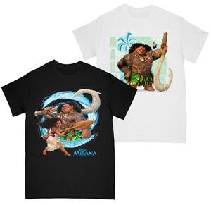 Disney Moana Girls Moana and Maui - Wave T-shirt Multi Pack of 2 5-6 Years