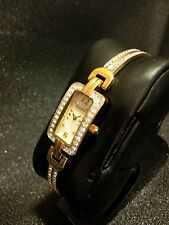 Wow!! Ladies Bracelet Watch Elgin mother of pearl crystals Free Shipping in NA!