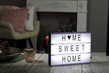 LED Lightbox inkl. 100 Buchstaben Zeichen Light Box Leuchtkasten Lichtbox Deko